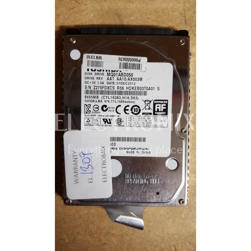 "TOSHIBA HDD MQ01ABD050 500GB SATA 3Gbps 8MB Cache 2.5"" EL1309 J4"