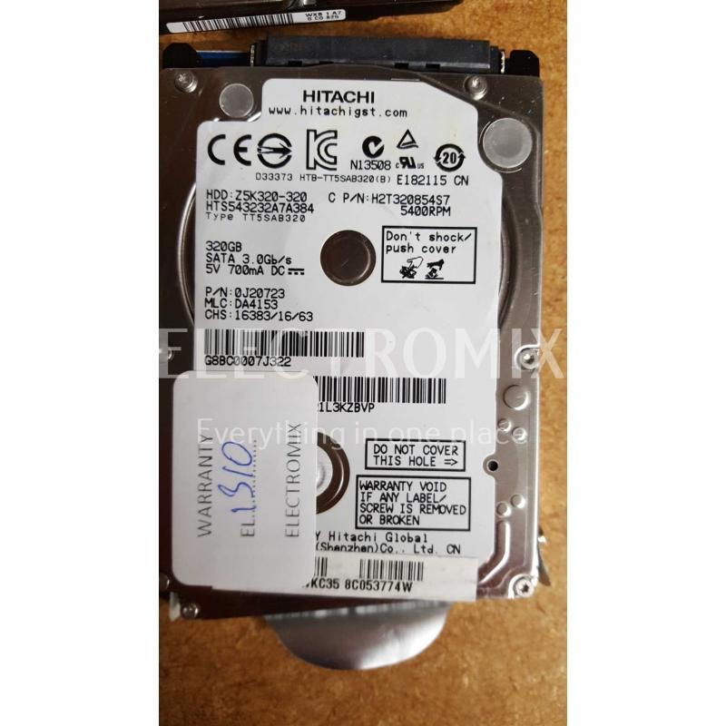 HITACHI HDD Z5K320-320 320GB SATA 3.0GB/s 5400RPM EK1310 J4