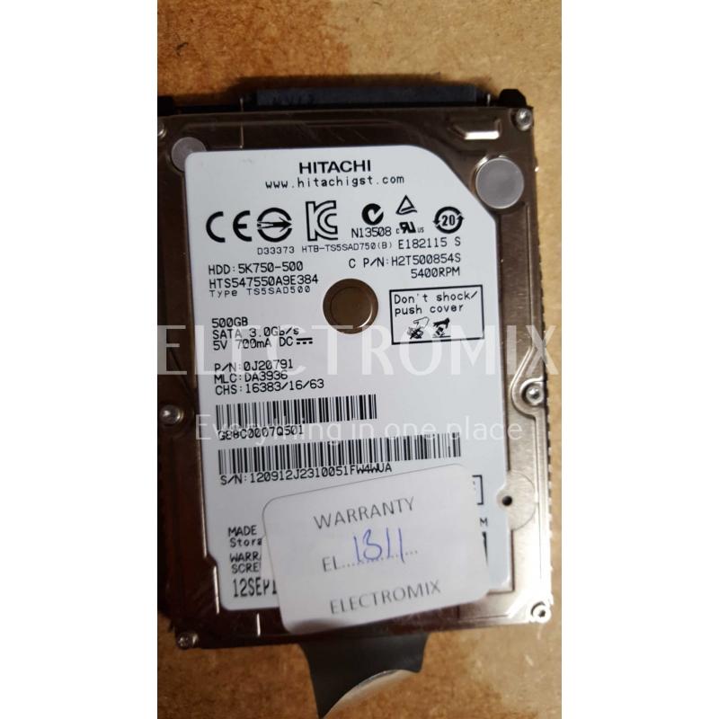 HITACHI HDD 5K750-500 500GB SATA EL1311 J4