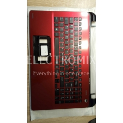 TOSHIBA SATELLITE L50-B PALMREST KEYBOARD RED A000296160 EL1328 K1