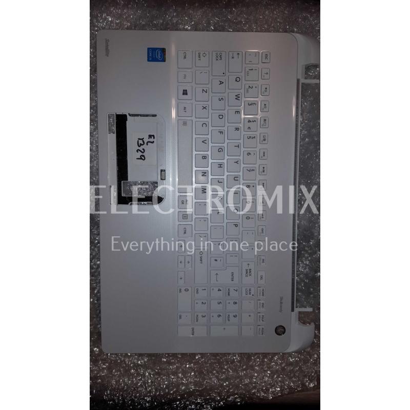 TOSHIBA SATELLITE L50-B PALMREST KEYBOARD WHITE A000295780 EL1329 K1
