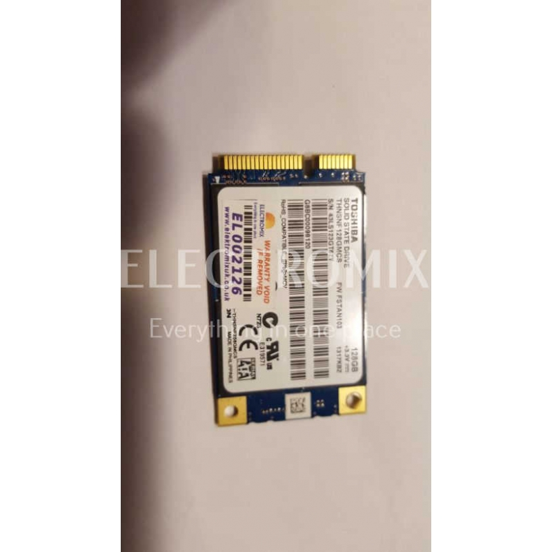 TOSHIBA THNSNF128GMCS  128GB mSATA, m-sata, SSD Drive EL2126 SM1