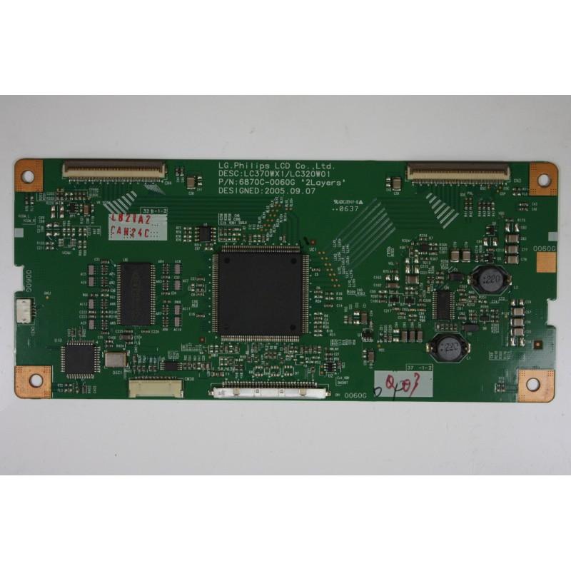 LG 32LX2R-ZJ.AEKLLBP T-CON 6870C-0060G 2005.09.07 EL0855 E3